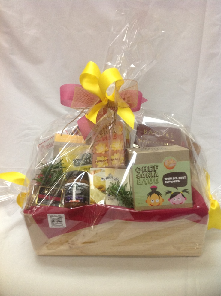 $105.00Au* - Wine Hamper - Wooden Box packed full of delicious Wine and Snacks.  *Delivery is Not Included in Prices shown.