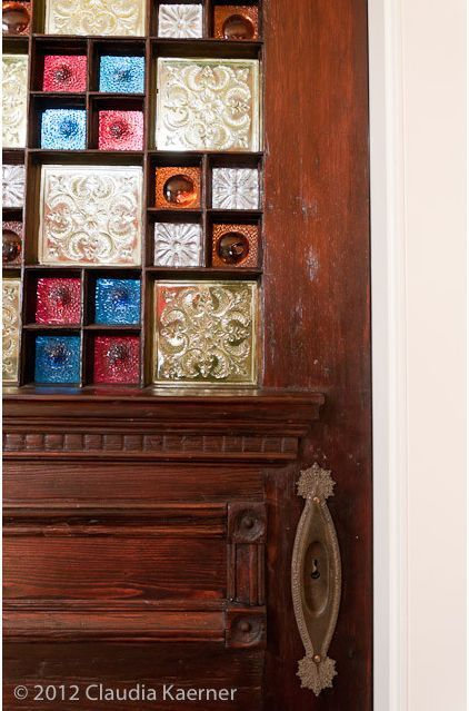 Pocket Door Created From Historic Late 19th Century Salvaged
