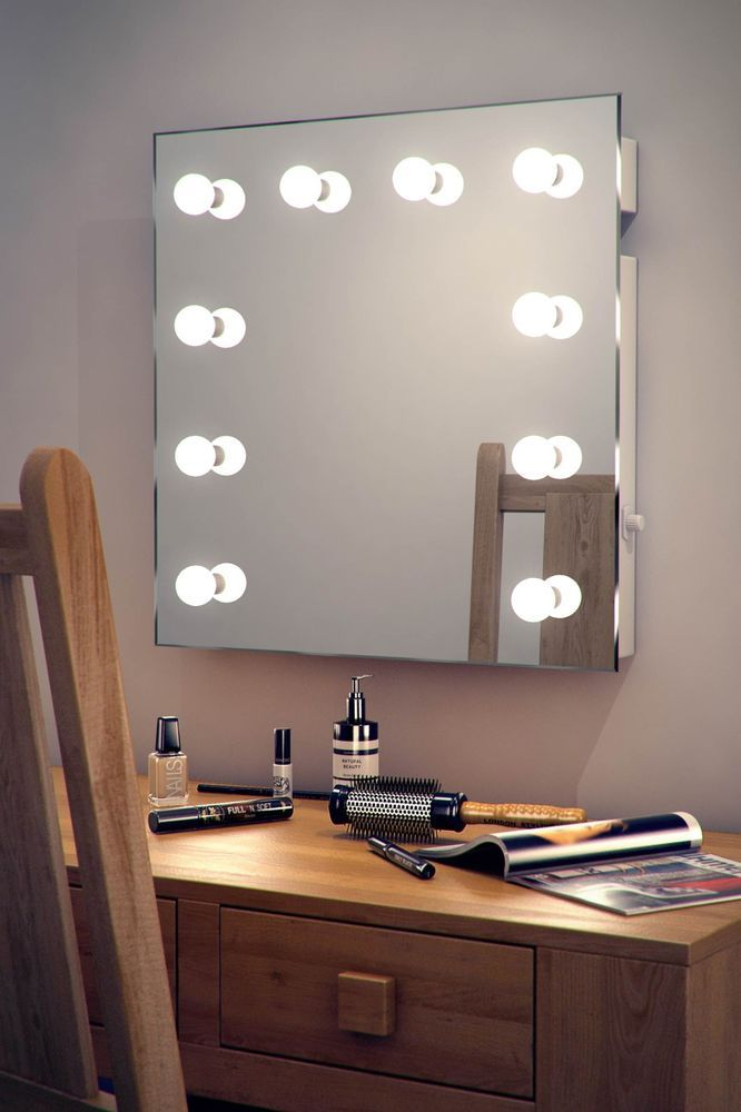Hollywood Makeup Dressing Room Mirror with Warm White Dimmable LED lamps k89WW