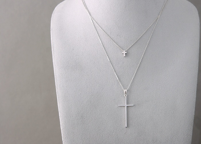 110 best cross jewelry images on pinterest cross jewelry small silver cross necklace at kellinsilver silver cross necklace cross pendant necklace cross mozeypictures Images