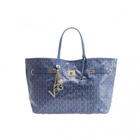 #Blue Style #V73 #MiamiBag Blue Acquistala su: http://goo.gl/LZ4rkJ #ShoppingBag #PaglioneCalzature #BorsaV73Miami #ModaDonna
