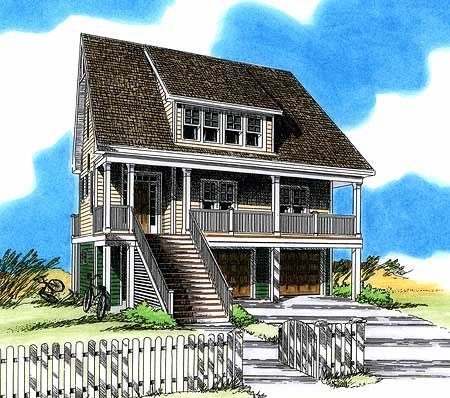 Plan 15028nc Low Country Beach Home Ground Floor Porch