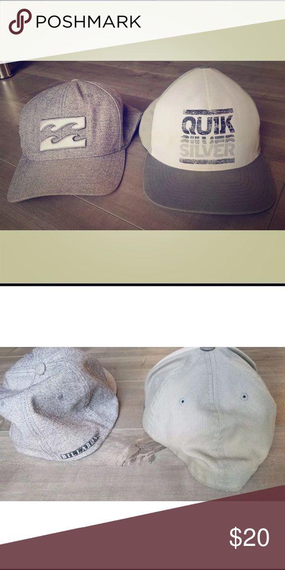 Two Baseball Caps- Billabong and Quiksilver Two like new hats! (billabong and quiksilver) great for beach and summer! Billabong Accessories Hats