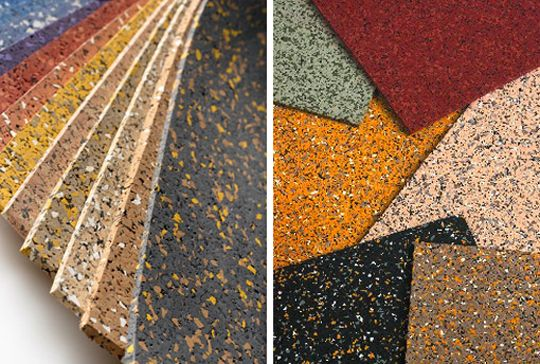 recycled rubber flooring can be a good choice for your home, its easy to clean, soft and comes in a variety of colours.