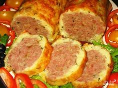 Мясной рулет в картофельной оболочке