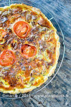Tarte au thon et à la tomate - Recette - Marcia Tack