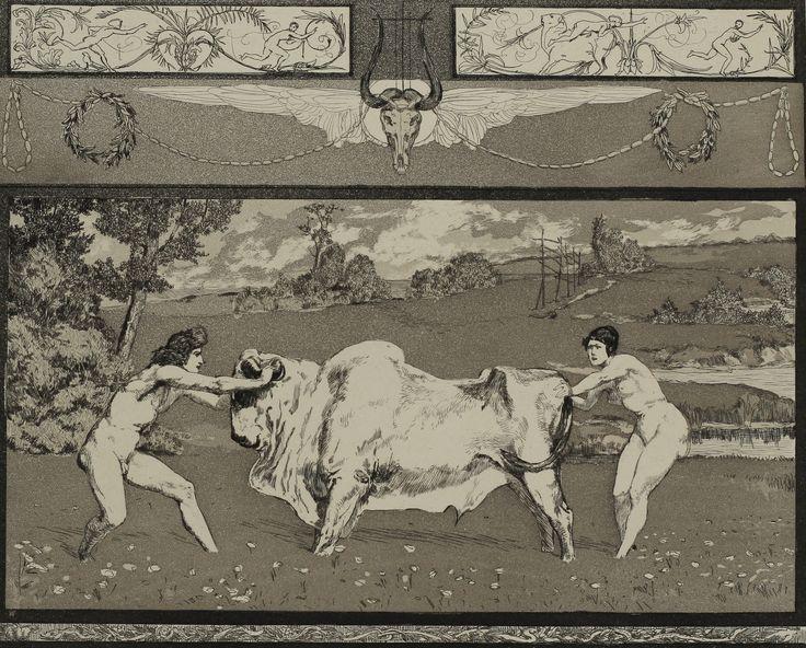 Appolon et Daphné by Max Klinger (German 1857-1920)