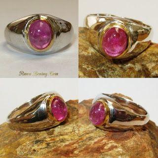 Perhiasan Perak Harga Grosir dan Eceran: Cincin Silver Vintage Batu Permata Ruby