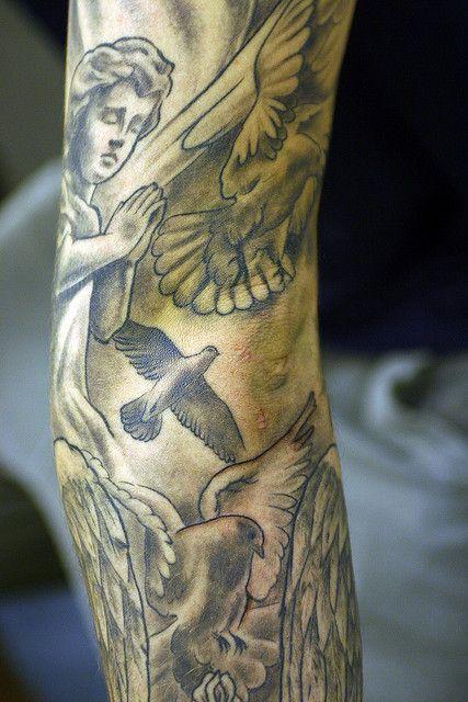 Doves and Cherub Tattoo Angels Pinterest Cherub