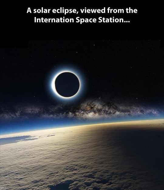 A solar eclipse from space… ALL I CAN SAY IS WOW!!!!!!