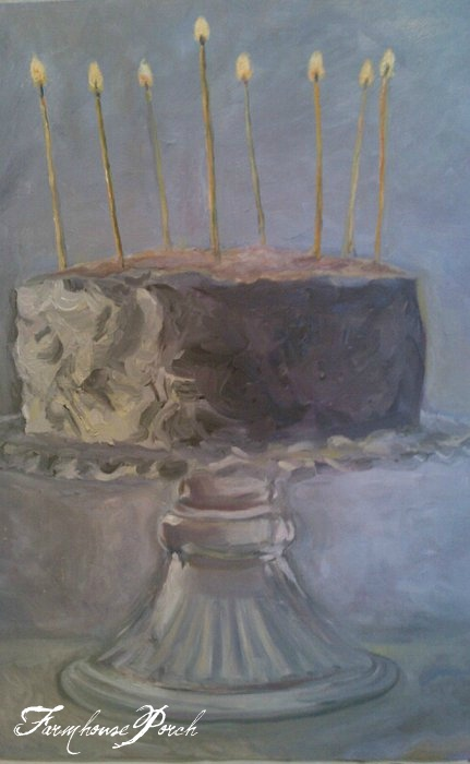 Cake Oil On Canvas Linsey SappingtonSold Farmhouse Porch X