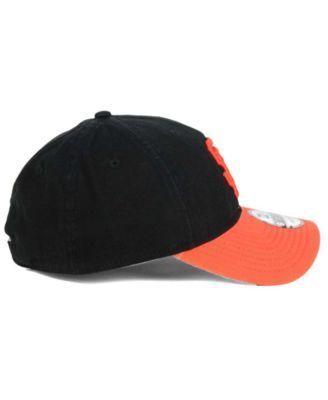New Era San Francisco Giants Relaxed 2Tone 9TWENTY Strapback Cap - Black/Orange Adjustable