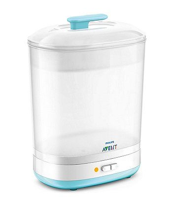 The compact design of the Philips Avent 2-in-1 Steriliser means it will fit neatly on your kitchen worktop and not take up too much space
