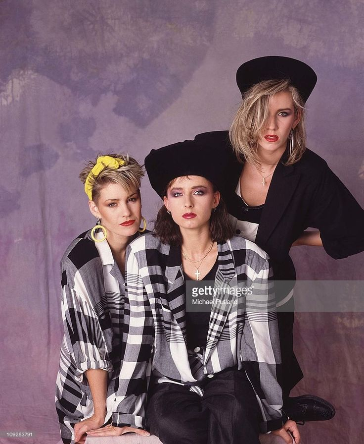 Bananarama portrait, London, 1984, L-R Siobhan Fahey, Keren Woodward, Sara Dallin.