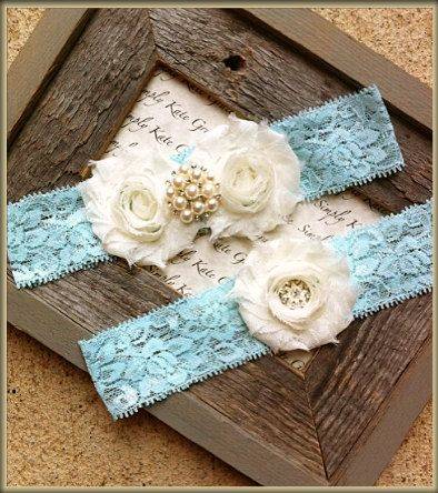 Something Blue Wedding Garter- Vintage Wedding Bridal Garter and Toss Garter- Ivory and Pearl Rhinestone Garter-Toss Garter
