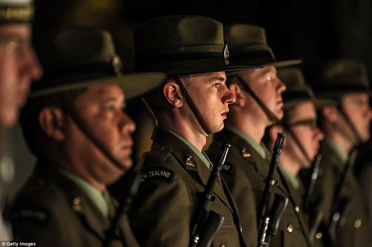 Cranmer Square at dawn service in Christchurch, New Zealand last year.