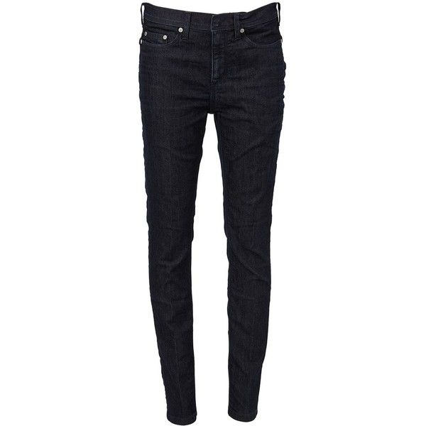 Neil Barrett classic skinny jeans (1.535 RON) ❤ liked on Polyvore featuring men's fashion, men's clothing, men's jeans, blue, mens blue skinny jeans, mens patched jeans, mens blue jeans, mens leather skinny jeans and mens leather jeans