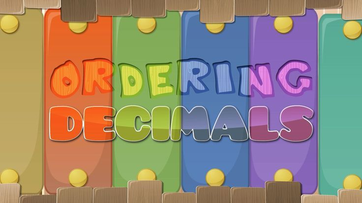 Great video for teaching kids how to compare and order decimals!