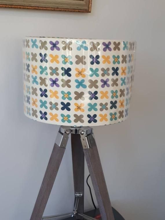 Hey I Found This Really Awesome Etsy Listing At Https Www Etsy Com Listing 668687178 Funky Retro Fabric 30 Colorful Lamp Shades Retro Fabric Ceiling Pendant