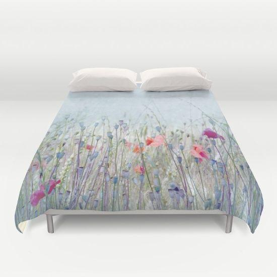 POPPY FIELD #duvetCover #homeDecor #homeAccessory #floral #romantic