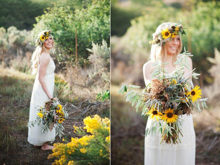 organic wild sunflower inspired wedding utah wedding florist calie rose www.calierose.com