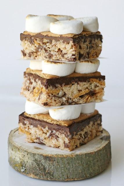 Glorious Treats » S'mores Rice Krispies Treats