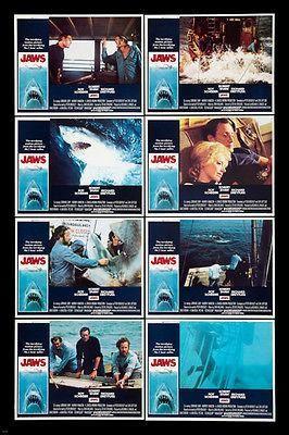CLASSIC HORROR JAWS movie poster danger GREAT WHITE SHARK man EATER 24X36