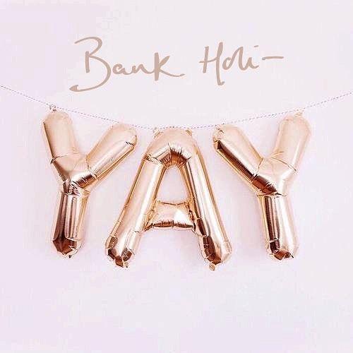 From #jomajewellery - Happy bank holiday! JJx #bankholiyay #mondays #jomajewellery #yay #balloons #celebration