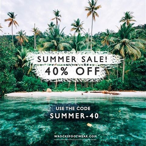 Yes! Summer Sale! Don't miss this chance to get 40% off in the entire website! Go ahead and use the code SUMMER-40 in the checkout of your purchase 🙌🏼 Go to wrocksfootwear.com (link in the bio) 🌐👟👌🏼 #sales #summersales #summer #springsummer #springsummer2017 #washedrocks #wrocksfootwear #sneakers #sneakerhead #sneakerfreak #fashion #instafashion #picoftheday #photooftheday #photography