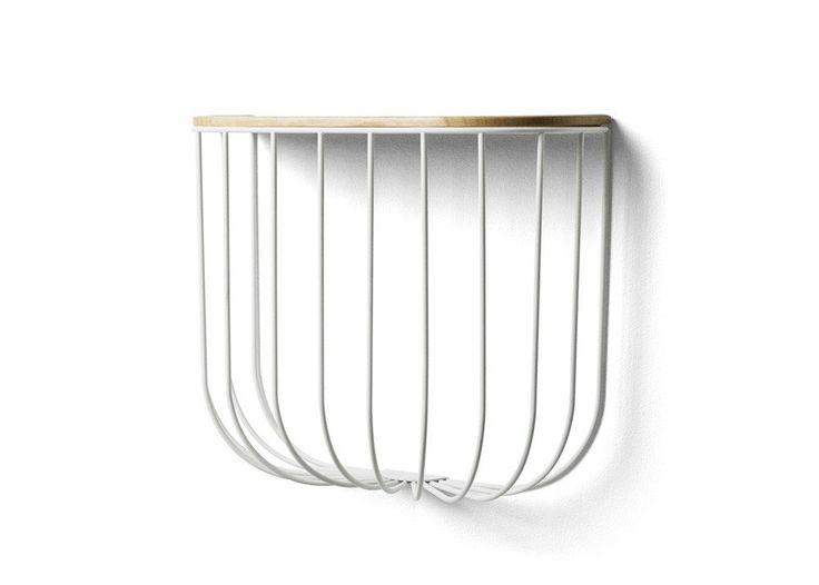 Menu Cage Shelf - White/Light Ash