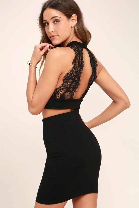 c45793324aa79 Chic My Interest Black Lace Two-Piece Dress – Lulus[Picked from Lulus.com]  Chic My Interest Black Lace Two-Piece Dress – Lulus $34.00 >>> Buy It Now !
