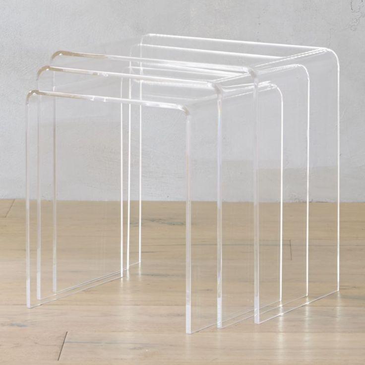 3 Piece Peekaboo Acrylic Nesting Table Set