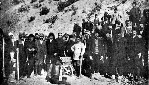 Greek men conscripted in Labour Battalions (Amele taburlari) where most perished from being forced to work in horrendous conditions with little food or water.