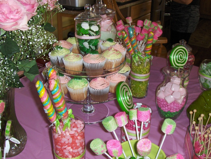 close up of some goodies from the princess and the frog baby shower