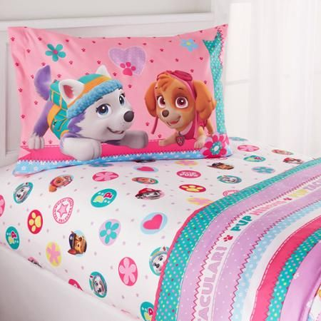 PAW Patrol Girl 'Best Pup' Twin Bedding Sheet Set - Walmart.com