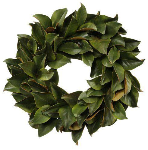 Winward Magnolia Leaf Wreath by Winward, http://www.amazon.com/dp/B004U79KLO/ref=cm_sw_r_pi_dp_FwvQrb15DQSER