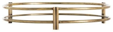 Daly Tray, Vintage Brass By Arteriors contemporary serveware