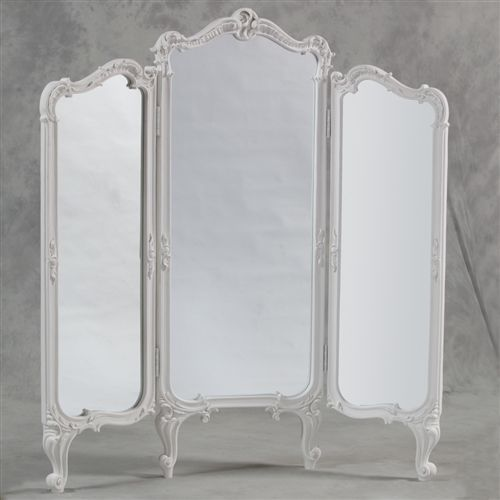 French Vintage Style Full Length Mirror Vintage