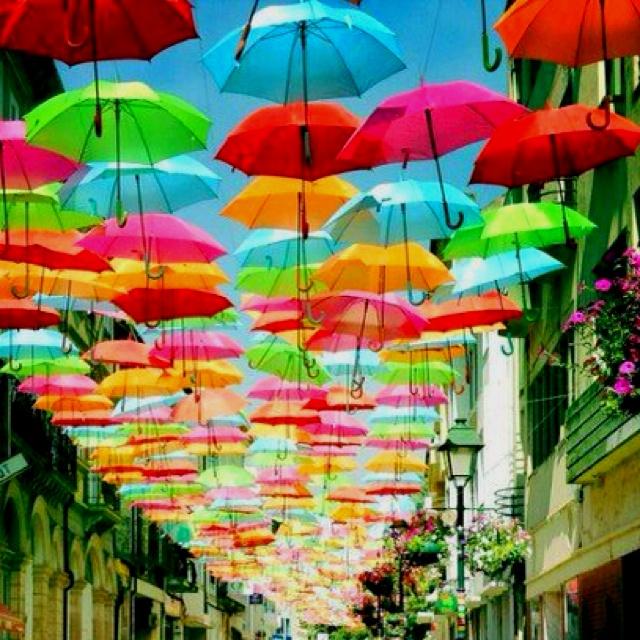 Umbrella Sculpture in Italy