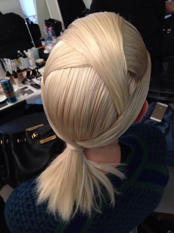 the origami hair at fendi by hair stylist sam mcknight #mfw