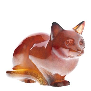 Daum's crystal cat amber