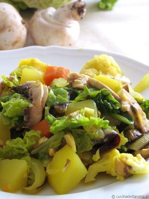 Ratatouille di verdure invernali alla curcuma