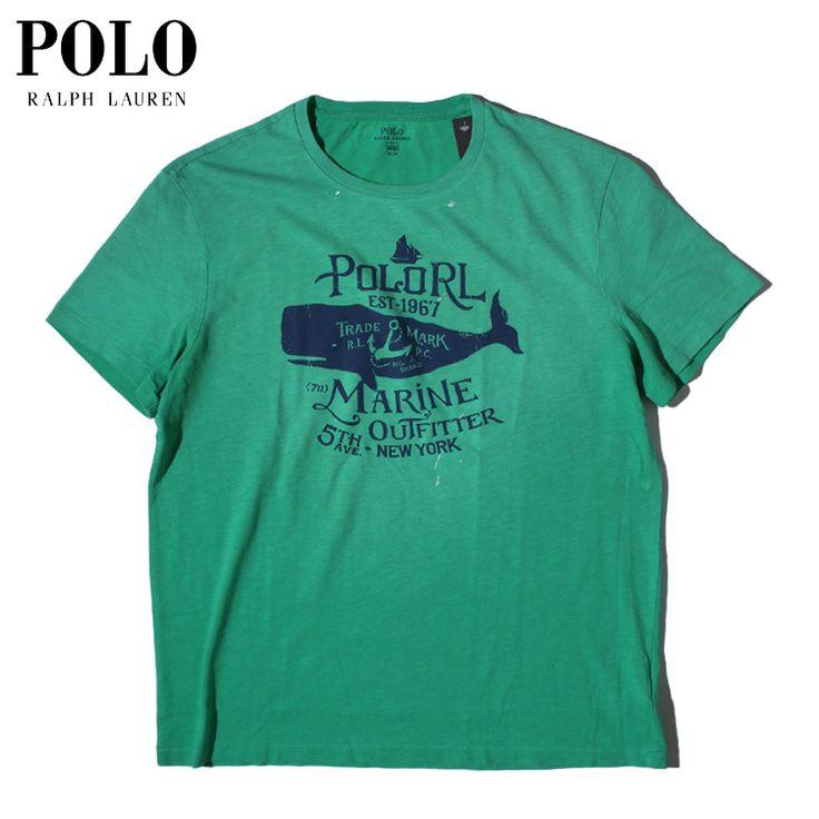 POLO RALPH LAUREN(ポロ・ラルフローレン) 5TH AVE NEW YORK GRAPHIC S/S TEE / オリジナル グラフィック 半袖 Tシャツ / GREEN【smtb-TK】