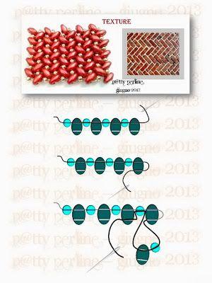 Superduo Herringbone Texture