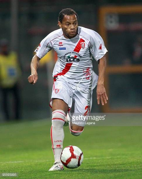 Ivock Thomas Herve' Job of US Grosseto is shown in action during the Serie B match between Reggina and Grosseto at Stadio Oreste Granillo on January...