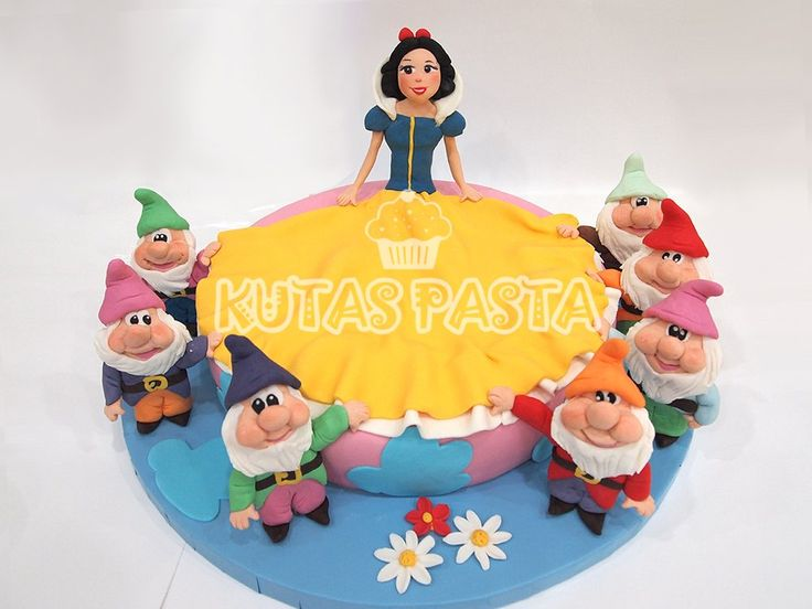 Pamuk Prenses ve yedi Cüceler Pasta - Snow White and the seven dwarves cake