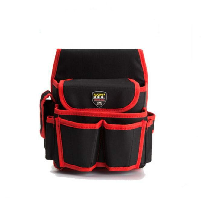 FASITE New Black Tool Bag Tool Pouch for Professional Electricians Red