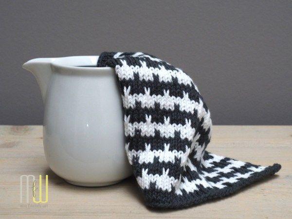 Spültücher stricken - das #designhoch12 Muster im Dezember