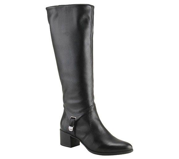 Bota de montaria em couro preto | Botas | Bottero Calçados