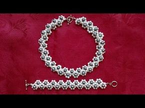 DIY pearl jewelry set. Jewely beading pattern -Ideas for Beginners - YouTube